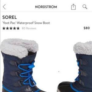 Child size 1 Sorel Winter Boots
